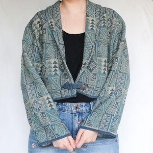 Vintage | Tapestry Crop Jacket